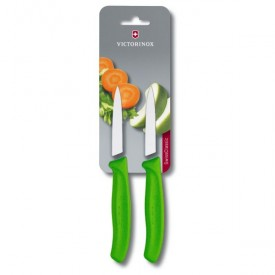 SWISS CLASSIC PARING KNIFE SET, 2 PIECES green