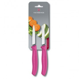 SWISS CLASSIC PARING KNIFE SET, 2 PIECES pink