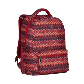 """COLLEAGUE 16"""" LAPTOP BACKPACK WITH TABLET POCKET, Red Native Print"""