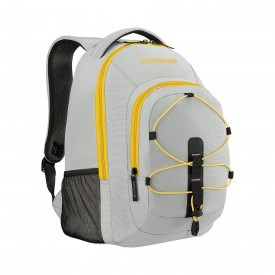"""MARS 16"""" LAPTOP BACKPACK WITH TABLET POCKET Grey / Yellow"""