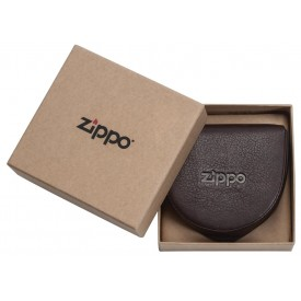 Zippo Leather Coin Pouch Brown