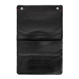 Zippo Nappa Tri-Fold Tobacco Pouch Black
