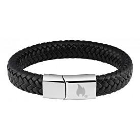 Zippo Braided Leather Bracelet 20 cm