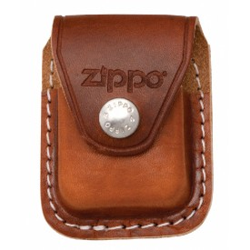 Zippo Lighter Pouch with Clip-Brown